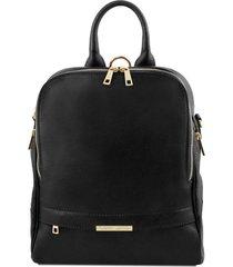 tuscany leather tl141376 tl bag - zaino donna in pelle morbida nero