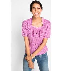 tiroler blouse, korte mouw