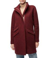 women's j.crew stadium cloth cocoon coat, size 4 - red
