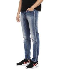 jeans ellus tiro medio slim azul - calce slim fit