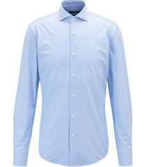 boss men's slim-fit italian performance-stretch shirt