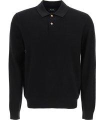 a.p.c. kyle knit polo shirt