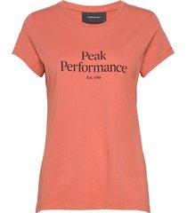 w original tee t-shirts & tops short-sleeved orange peak performance