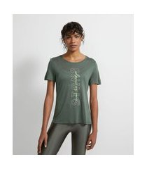 camiseta esportiva em viscose estampa strng | get over | verde | g
