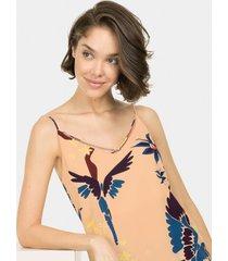 blusa com alças estampa guacamayo - lez a lez