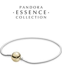 bracelete essence collection de prata de lei com fecho de ouro