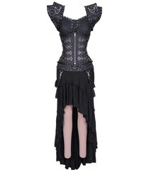 dark gothic underbust corset dress