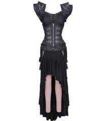 dark gothic underbust corset dress