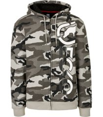 ecko unltd men's bulls eye full zip sherpa hoodie