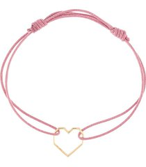 aliita heart-motif adjustable bracelet - pink