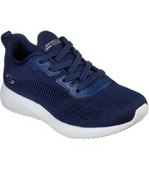 zapatilla bobs squad - tough talk azul marino skechers