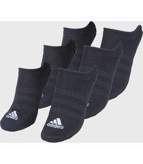 medias x3 negro adidas performance