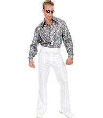 buyseasons men's glitter hologram disco shirt