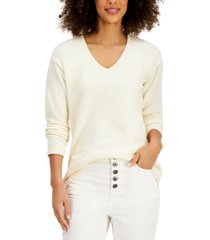 style & co v-neck sweater, created for macy's