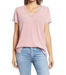 women's gibson x the motherchic beach burnout boyfriend t-shirt, size x-small - pink