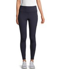 marika women's cameron exposed-seam leggings - black - size s