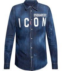 denim shirt with logo