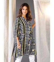blouse amy vermont wit::zwart::geel