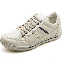 sapatenis carmelo shoes casual couro branco - branco - masculino - dafiti