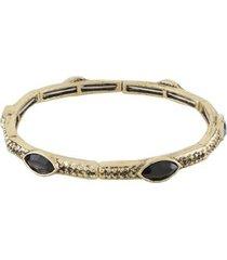 pulseira armazem rr bijoux navetes pretas - feminino