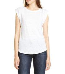 women's frame slouchy linen tank, size x-small - white