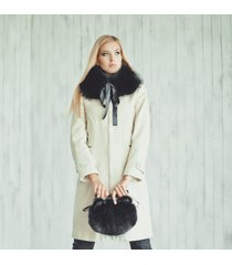 black fox fur collar (scarf)/col en fourrure de renard (echarpe)