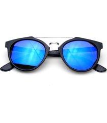 vintage inspired dapper cross bar flash mirror lens sunglasses