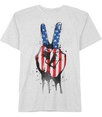 hybrid men's americana peace sign t-shirt