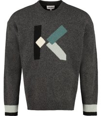 kenzo wool-blend crew-neck sweater