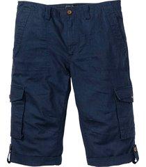 bermuda cargo lungo in misto lino (blu) - bpc bonprix collection