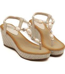 tacones abiertos cuñas casuales sandalias para mujeres plataforma de