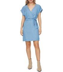 women's vero moda lisa faux wrap dress