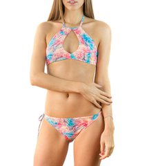 bikini top estampado rosado relleciga