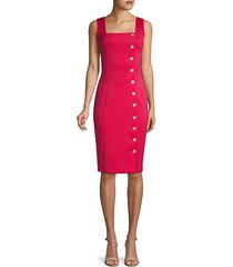 button sheath apron dress