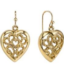 2028 filigree heart drop earrings