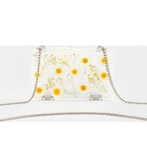 lyla daisy clutch - clear