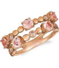 le vian women's 14k strawberry gold®, peach morganite™ & nude diamond™ ring - size 7