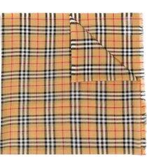 burberry vintage check scarf - neutrals