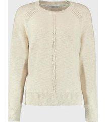 sweater con tiras en color contrastante crudo esprit