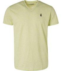 no excess t-shirt v-neck 3 coloured melange + green