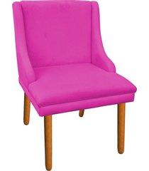 cadeira sala de jantar liz suede pink - d'rossi