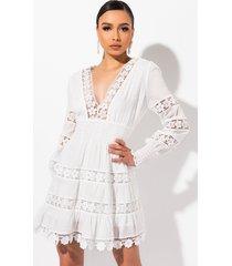akira lovely day deep v lace mini dress