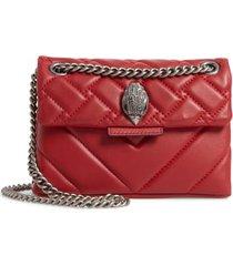 kurt geiger london mini kensington quilted leather crossbody bag - red