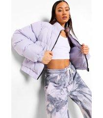 korte jas met hoge hals, lilac