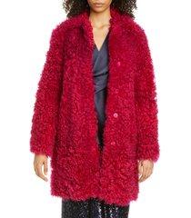 women's sies marjan genuine shearling coat