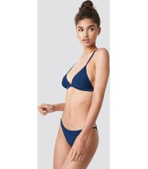 na-kd swimwear piping strap bikini brief - blue