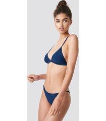 na-kd swimwear piping strap bikini brief - blue