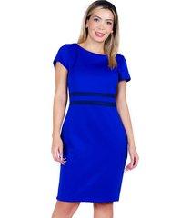 vestido con corte azulino bellisima