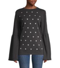 south parade women's christy cotton sweatshirt - heather grey - size m