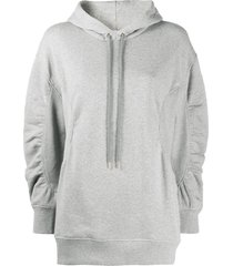 stella mccartney flared sleeve hoodie - grey